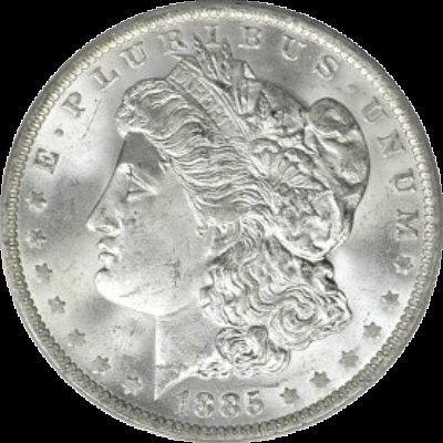 1885-O Morgan Silver Dollar ANACS MS64 New holder