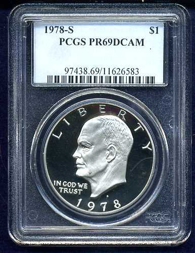 1978-S Eisenhower (or Ike) Dollar PCGS PR69DCAM