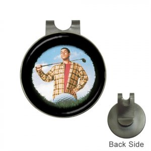 HAPPY GILMORE Movie Golf Ball Marker Hat Clip and  Golf Ball Marker NEW 14816254