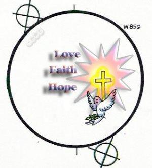 Love, Faith, Hope Button
