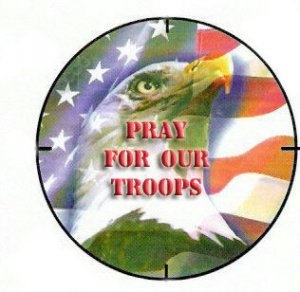 Pray For Our Troops Button