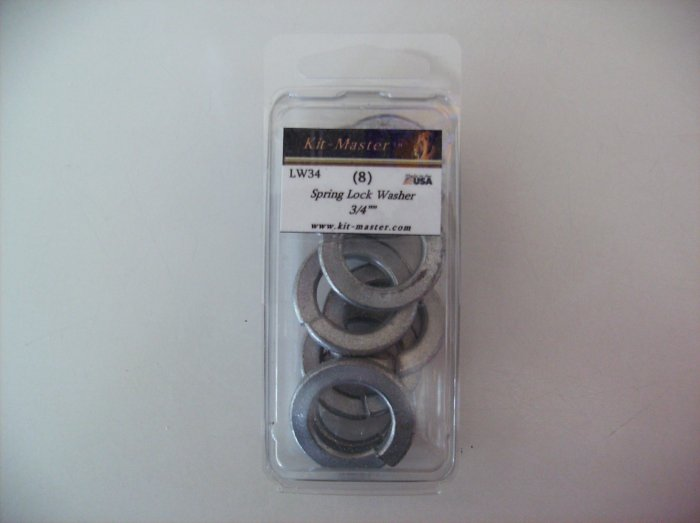 "Kit-Master 3/4"" Spring Lock Washer LW34"
