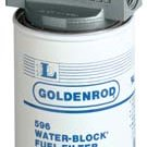 "56593 (596-3/4) Goldenrod 3/4"" Npt Fuel Tank Filter Assembly (WaterBlock) (Diesel & Gasoline)"