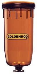 75074 (495-4) Goldenrod Fuel Filter Replacement bowl (Diesel & Gasoline)