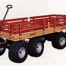 "870 SpeedWay Express 26"" x 58"" Amish Made Toy Wagon 1400#"