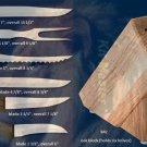 G242 Creative Cuts Oak Block Knife Holiday/Party Set -Black Handle (Rada Cutlery)