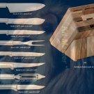 S43 Colossal Knives w/Oak Block Holiday Gift Set (Rada Cutlery)