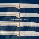 S4S Four Serrated Steak Knives Holiday Gift Set (Rada Cutlery)
