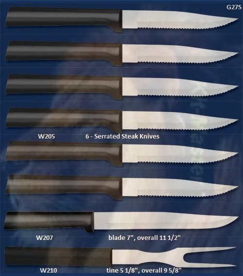 G27S Meat Lover Steak Knife Holiday Gift Set-Black Handle (Rada Cutlery)