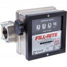 """901N1.5 Fillrite 6-40 GPM 1-1/2"""" Meter Nickel Plated"""