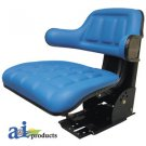 WF222BU Universal Flip-Up Tractor Seat with Arm Rest BLUE