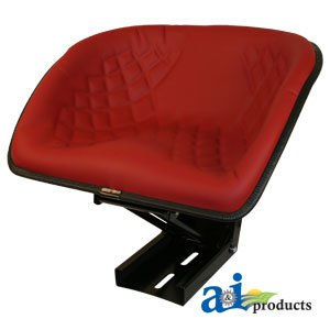 BS100RD Bucket Style Tractor Seat (Red)