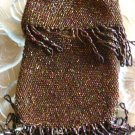 Copper Beaded Drawstring Purse