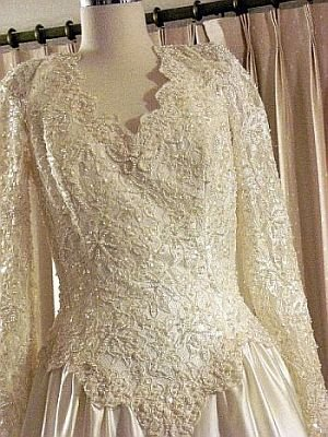 Wedding Gown Amy Lee Hilton Bridal Pearl Encrusted  sz 10