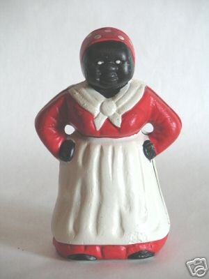 5 INCH CAST IRON MAMMY-AUNT JAMIMA BANK-COLLECTIBLE