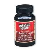 Vitamin A and D Softgel caps - 250 Capsules