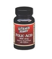 Folic Acid 800 mcg - 500 Tablets