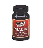 Niacin 100 mg - 100 Tablets