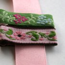 Set of vintage alligator hair clips
