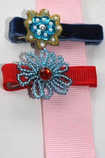 Set of two vintage alligator hair clips