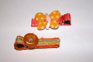 Set of two retro alligator clips