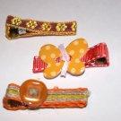 Set of three retro alligator clips