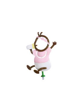 Family Matters Metal Yard Stake BABY GIRL  Whimsical Character