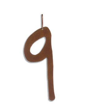 Family Matters Metal Yard Stake  ADDRESS  Whimsical Number NINE
