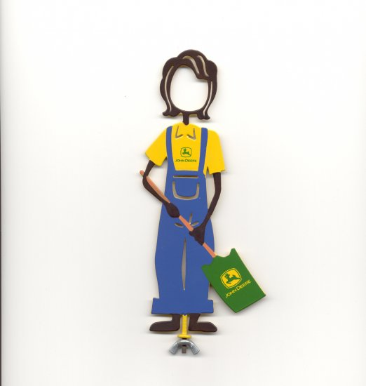 Family Matters Metal Yard Stake JOHN DEERE  MOM  Whimsical Character