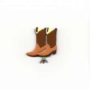 Family Matters Metal Yard Stake BOOTS  Whimsical Figure