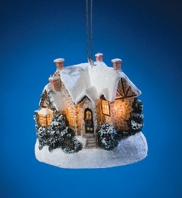 THOMAS KINKADE CHRISTMAS MOONLIGHT 2006 ORNAMENT