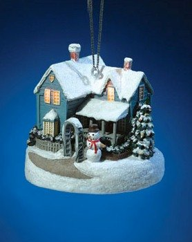 THOMAS KINKADE BLESSINGS OF CHRISTMAS 2002 ORNAMENT