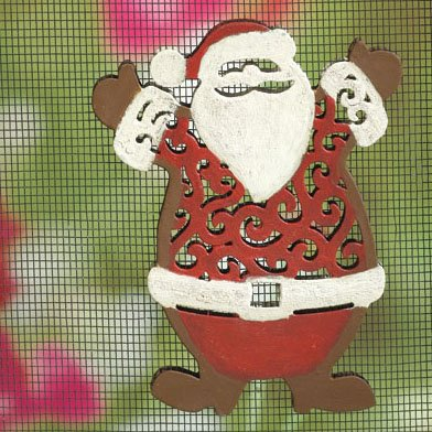 MAGNETIC WINDOW /DOOR  SCREEN SAVER  DECORATIVE  HOLIDAY ORNAMENT  SANTA  FREE SHIPPING