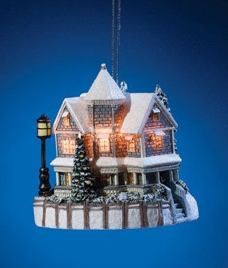 THOMAS KINKADE A HOLIDAY GATHERING 1998 CHRISTMAS ORNAMENT