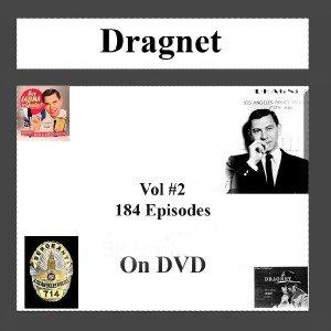 OLD TIME RADIO OTR DRAGNET VOL # 2 184 EPISODES ON DVD