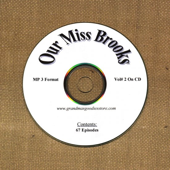 OLD TIME RADIO OTR  OUR MISS BROOKS VOL#2  67 EPISODES
