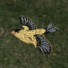 MAGNETIC WINDOW  SCREEN SAVER  DECORATIVE ORNAMENT  YELLOW FINCH  BIRD SOARING