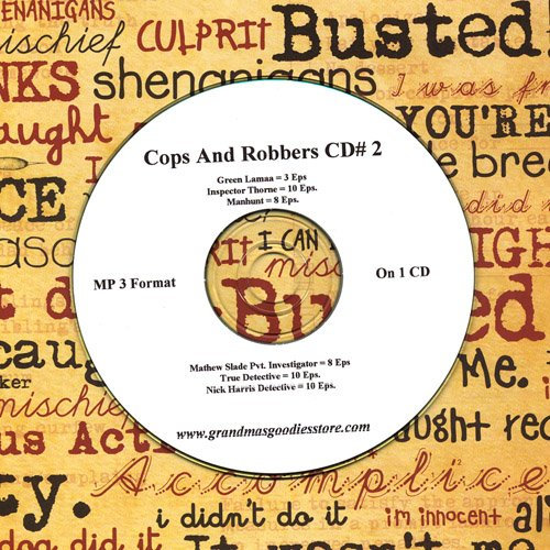 OLD TIME RADIO OTR  COPS AND ROBBERS  49 EPISODES  ON CD #2
