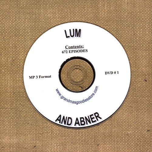 OLD TIME RADIO SHOWS   LUM & ABNER  DVD # 1   672   EPISODES  ON CD