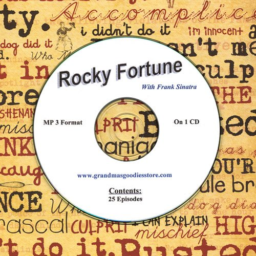 OLD TIME RADIO OTR   ROCKY FORTUNE WITH FRANK SINATRA 25  EPISODES  ON CD