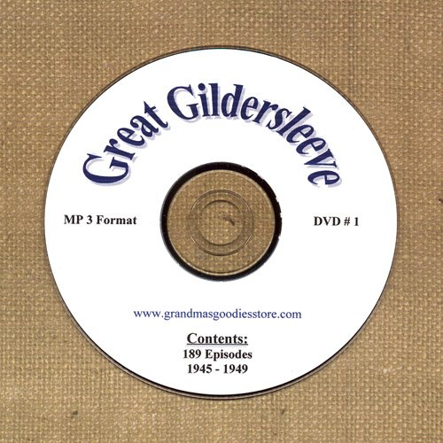 OLD TIME RADIO OTR   GREAT GILDERSLEEVE DVD# 1 189 EPS.