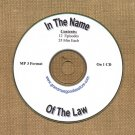 OLD TIME RADIO  OTR  IN THE NAME OF THE LAW  12 EPS.