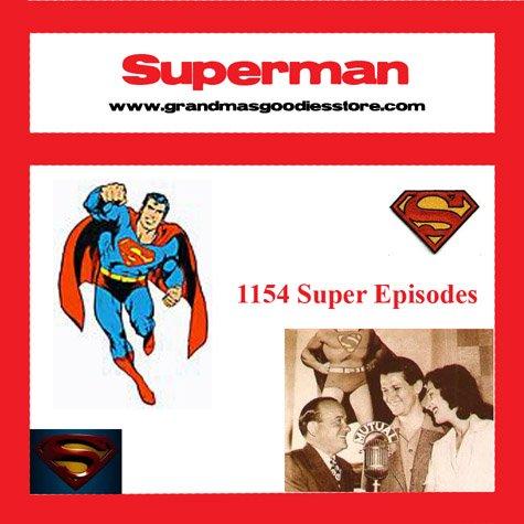 OLD TIME RADIO  OTR    SUPERMAN 1154 EPISODES   DVD