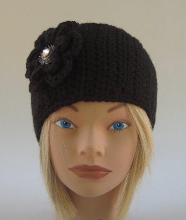 Black Headband Handmade Crochet Pre-Teen to Adult