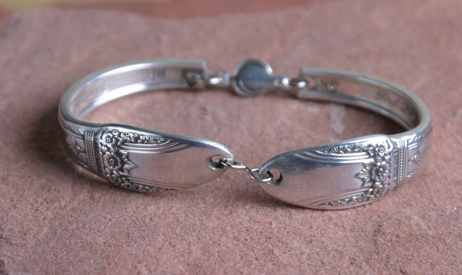 Rodgers 1937 First Love Vintage Silver Plated Silverware Spoon Bracelet # 018
