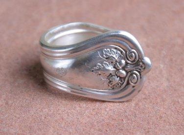 Wm. Rodgers 1914 Lakewood pattern Silver Plate Silverware Fork Ring #024 SZ 8