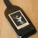The Prisoner Red Wine bottle Flattened (slumped) Liqueur/wine bottle