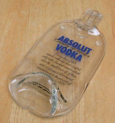 Absolut Vodka bottle Flattened (slumped) Liqueur/wine bottle
