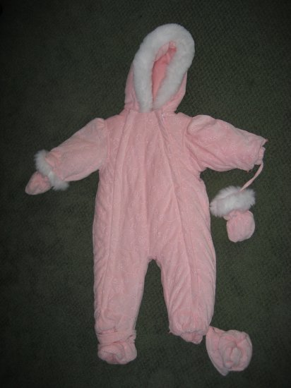 Girls 18M Pink Snow Suit