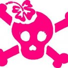 Hibiscus Girl Skull Hibiscus Car Decal Sticker #36